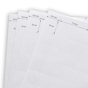 Papiereinleger 75 x 38 mm